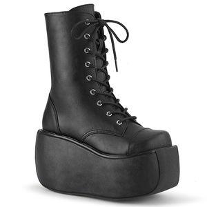 Gothic Platform Lace Up EDC Punk Ankle Boots